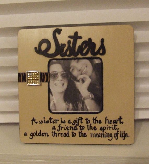 Friendship Picture Frames With Quotes: Quote Frame Sisters Frame Best Friend Frame Gift For