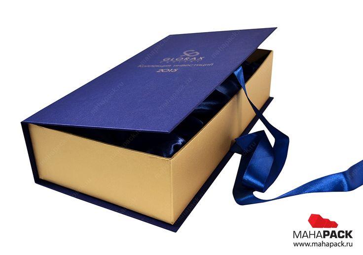 Кашированная коробка-книжка с атласным ложементом для бутылки вина, монеты и марки под заказ | Коробки из переплетного картона, подарочная упаковка, коробки под заказ | Mahapack.ru - изготовление индивидуальной упаковки