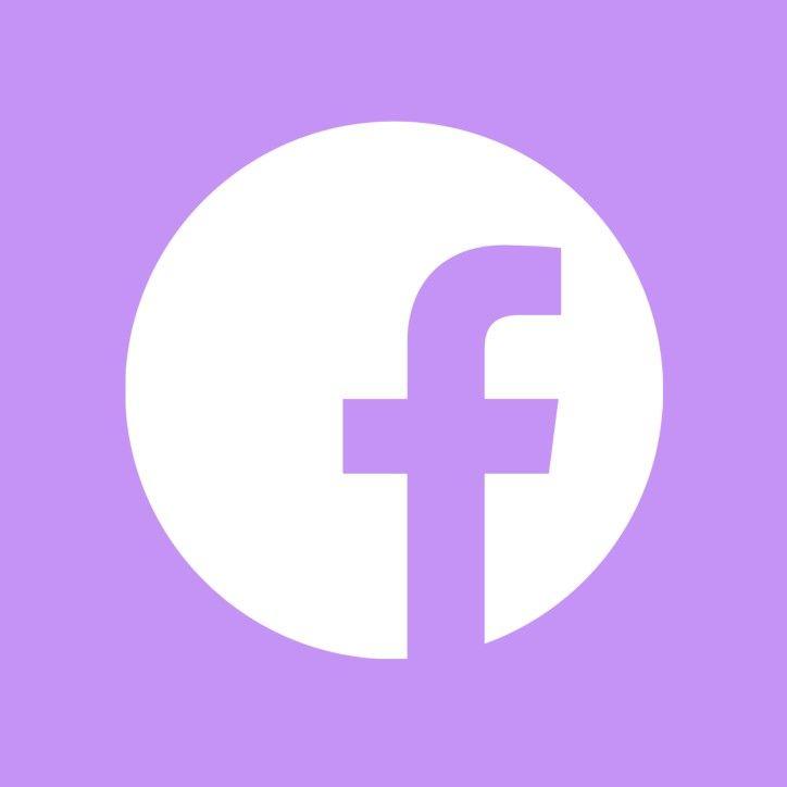 Icon Facebook Desain App Aplikasi Ungu