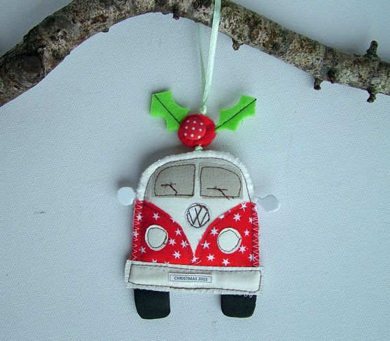 CHRISTMAS 2015 Camper Van Christmas Ornament. by SwinkyDoo on Etsy