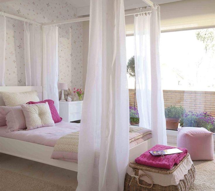 Las 25 mejores ideas sobre dormitorio con dosel en - Habitacion rosa palo ...