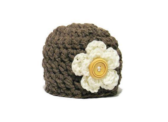Crochet Newborn Girl Hat Baby Girl Hat by DeesCozyCreations