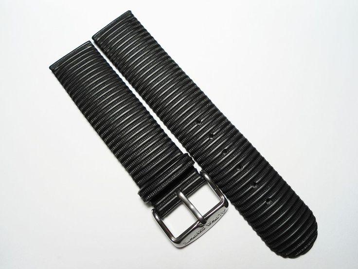 Alpha Saphir Uhrenarmband Leder Mix Armband Watch Strap Leather Mix Band  18 mm