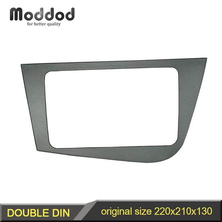 check price radio fascia for seat leon double din head unit stereo panel dash mounting gps navigation #seat #leon