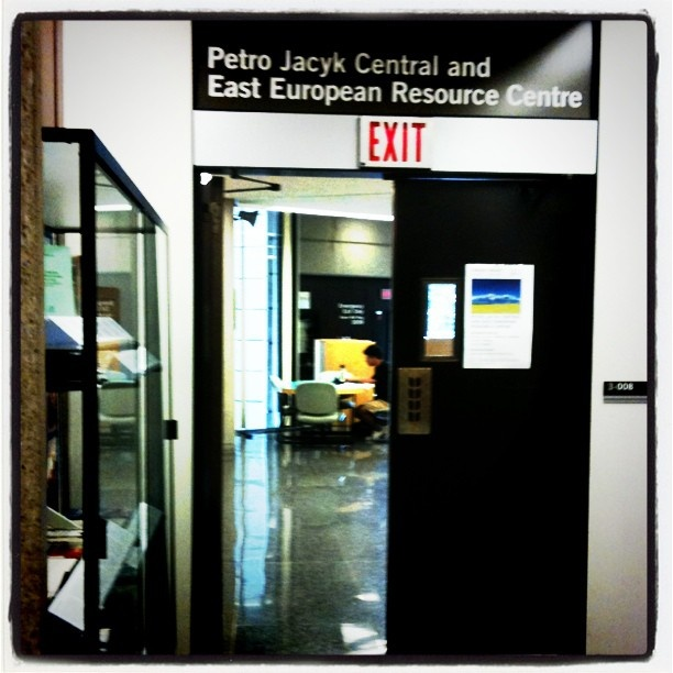 The Petro Jacyk Resource Centre is located on the third floor of Robarts library. It is open during regular library hours (http://resource.library.utoronto.ca/hours/month.cfm?library_id=109).