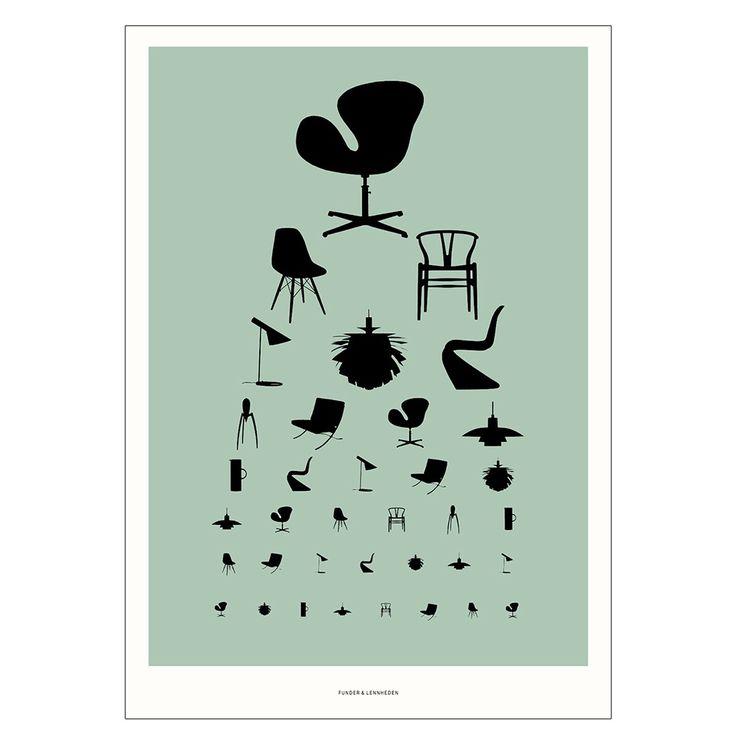 Funder & Lennheden - Icons print Lys Grøn