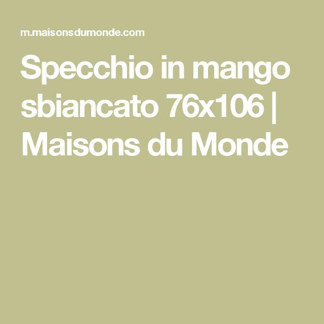 Specchio In Mango Sbiancato 76x106