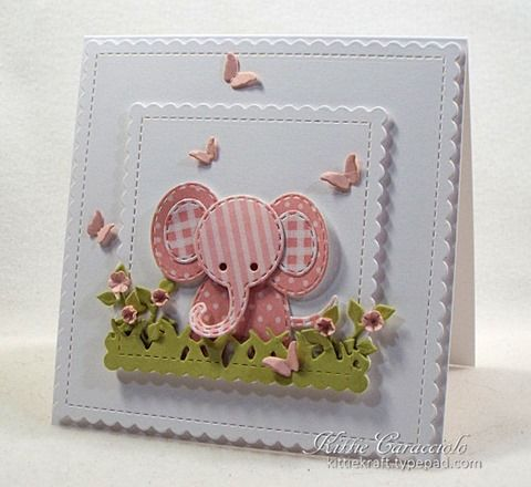 Little Patchwork Elephant Scene