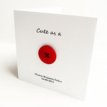 button card perfect for a new arrival. I will be making a few of these in the next few months.