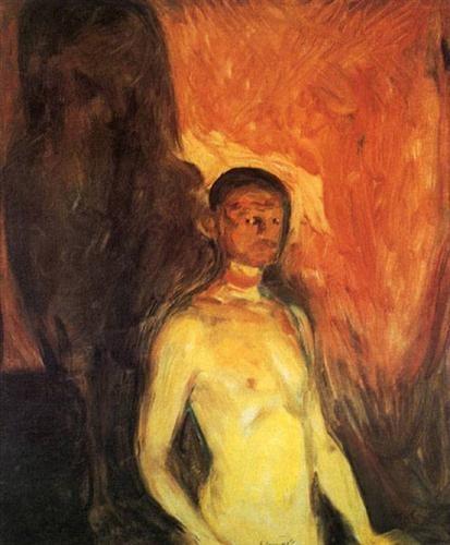 Автопортрет в аду - Эдвард Мунк