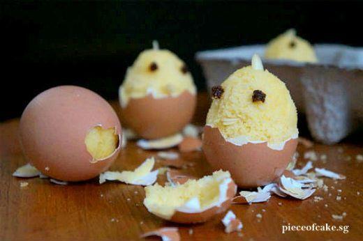 Maak indruk met dit recept: Bak een cake in een ei!