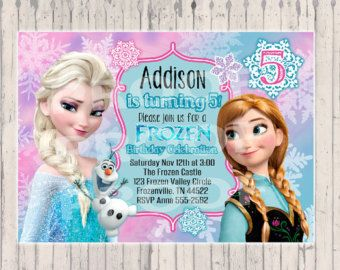 Frozen Birthday invitation - Digital Copy - Frozen invitation