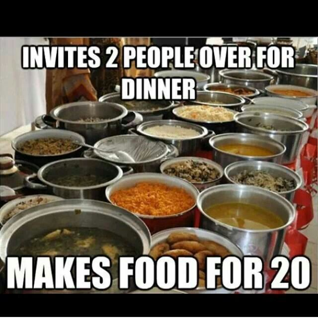This is soo my problem except make that 30 people over, cook for 50 lol