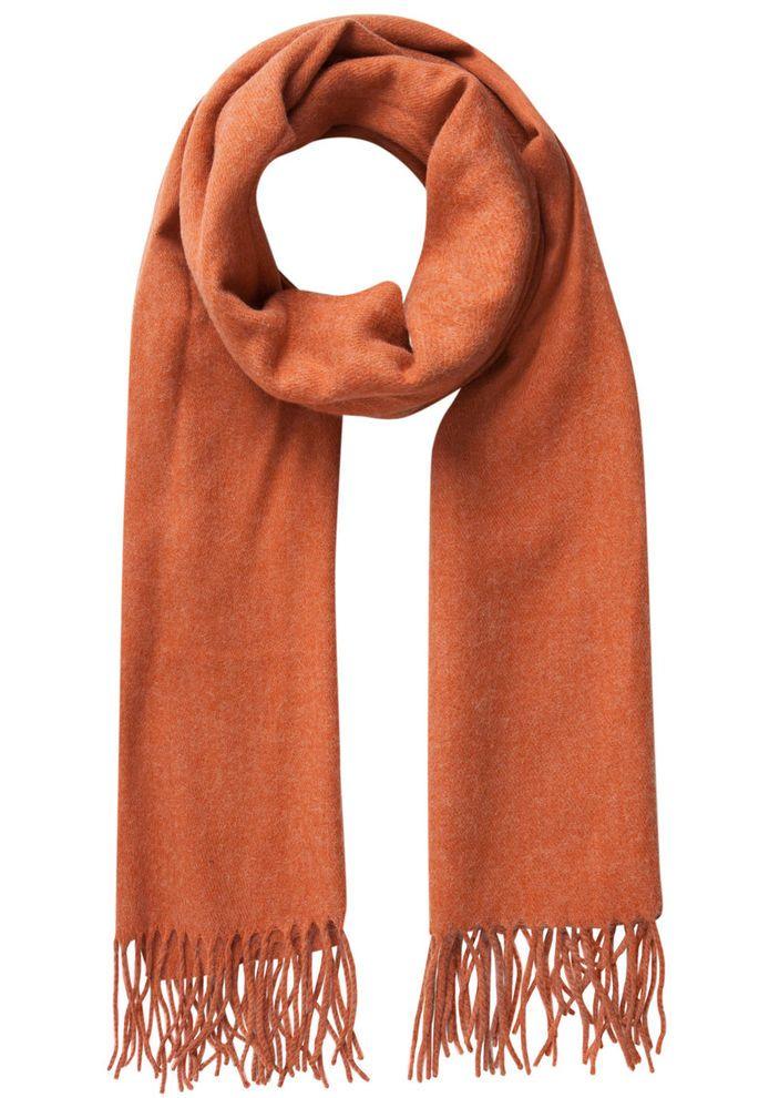 Uld tørklæde fra Pieces Orange