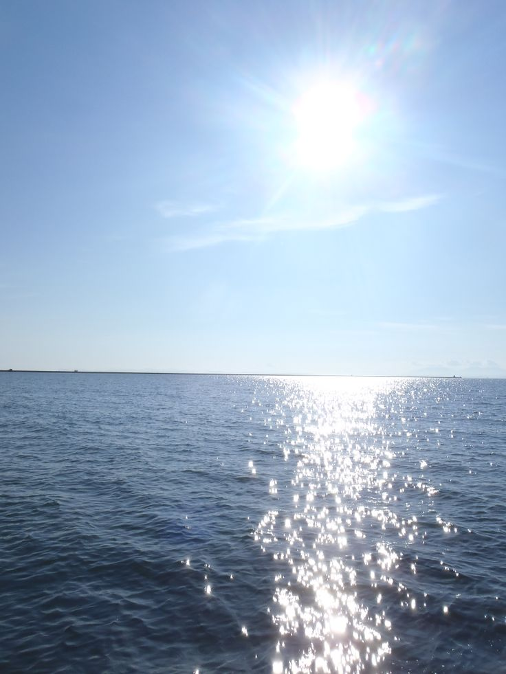 I'm always looking for the perfect sun, water, sky shot - this is just an almost...