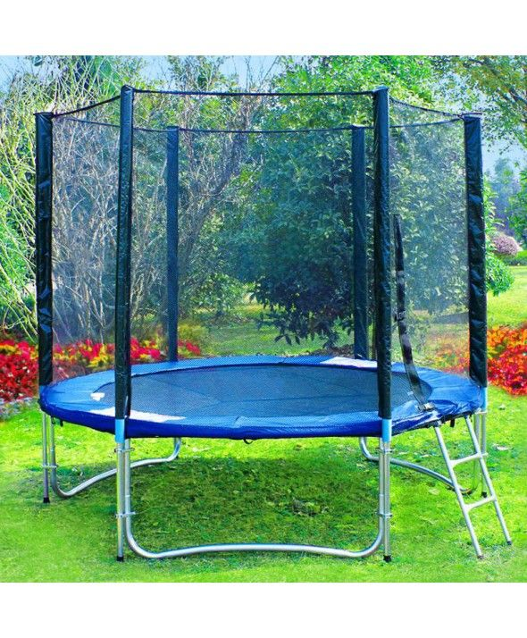 $225 8FT Spring Trampoline - Blue