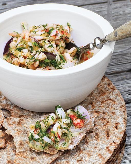 Crayfish Salad Recipe via Sweet Paul Magazine #Crayfish #Scandinavia #kraftskiva