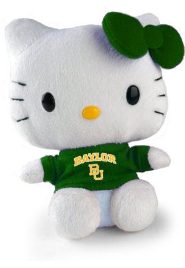 #Baylor University 11-inch Hello Kitty Plush: In Bears, University 11 Inch, Ayye Sic, Baylor Pride, Baylor Bound, Kitty, 11 Inch Hello, Baylor Bears