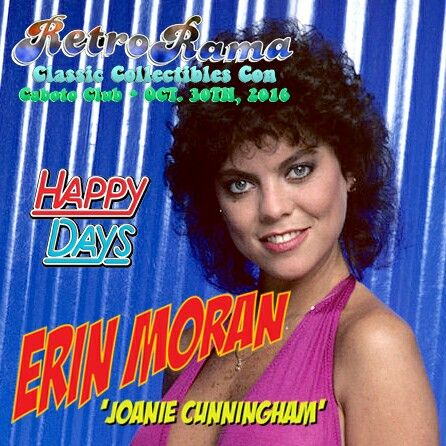 Happy Days legend Erin Moran - coming to Windsor's RetroRama Classic Collectibles Con Oct. 30/2016! www.Facebook.com/RetroRamaWindsor