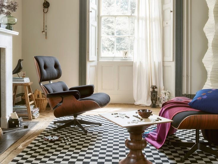 Vitra Limited Edition Eames Lounge Chair Twill & Ottoman