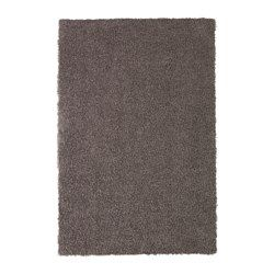 IKEA - HÖJERUP, Rug, high pile, The anti-slip backing keeps the rug firmly in place on the floor and reduces the risk of slipping.The thick pile dampens sound and provides a soft surface to walk on.Durable, stain resistant and easy to care for since the rug is made of synthetic fibers.