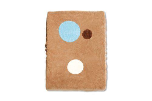 Baby Boum Cotton Rich Cacao Brown Changing Mat Cover with Bubbles Appliqu� Design