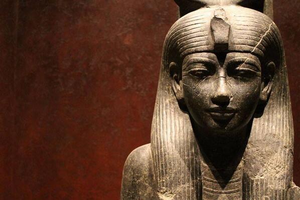 Museo Egizio: La dea Hathor. Nuovo Regno, XVIII dinastia, regno di Amenofi III (1388-1351 a.C.). #Torino #Musei