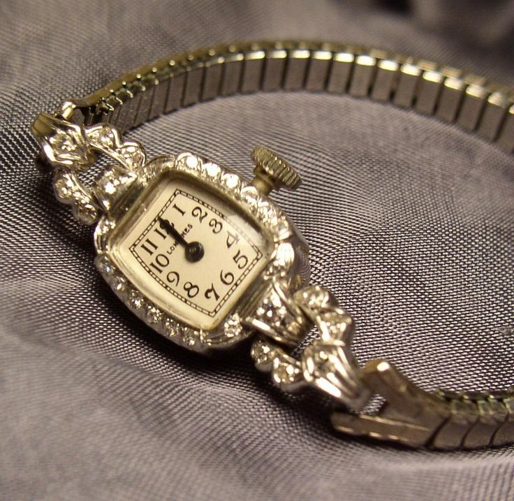 Vintage Solid Platinum Diamond Ladies Longines Watch from shanajoel on Ruby Lane