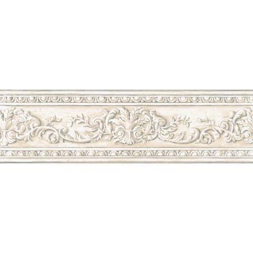 York Wallcoverings AZ5164BD Border Book Arch Fan Border - off white / cream (Off White/Ivory)