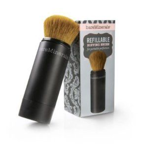 Bare Escentuals Refillable Buffing Brush by Bare Escentuals. $29.50. Detachable brush head lets you wash the soft bristles regularly and keep them clean. Two-click application and secure locking mechanism give you a controlled product flow without any leaks. It's a brush. It's a makeup holder. It's the perfect travel companion. Fill our patent-pending Refillable Buffing Brush with any bareMinerals complexion product provides convenient, on-the-go application. To start, simply tu...