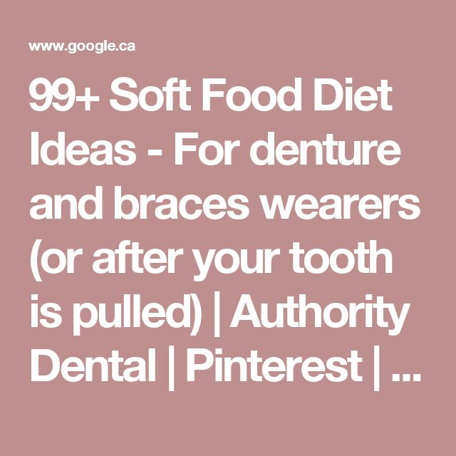 Soft Foods For New Denture Wearers
