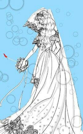 Julius vestida de novia/ julius dressed as bride  Orpheus no mado