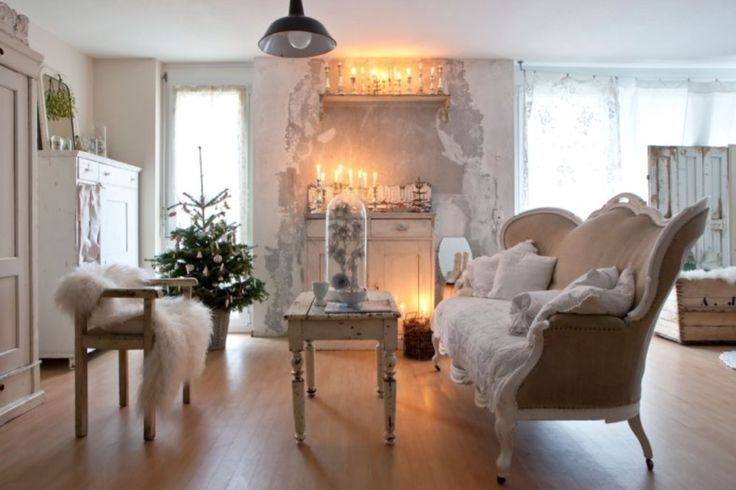"""This cosy and festively decorated living room is from our feature """"Festive Spirits"""""""