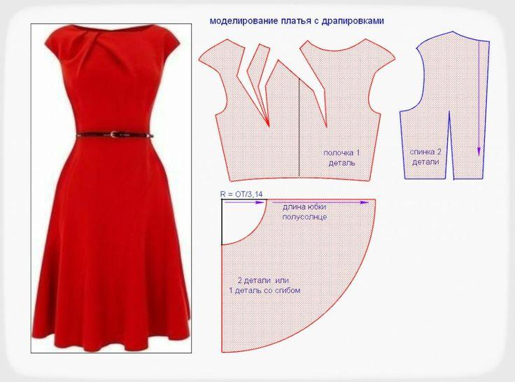 Модели платьев с выкройками и схемами фото
