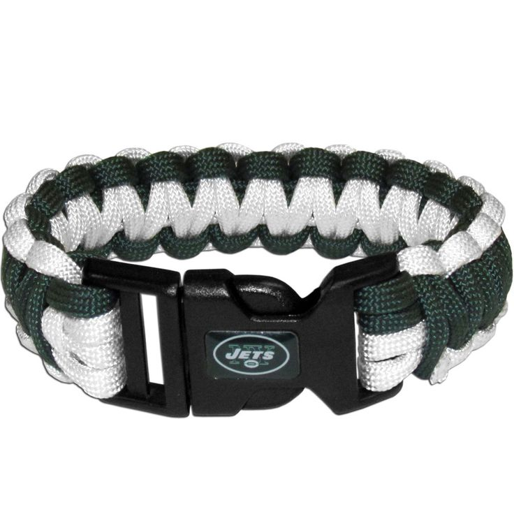 Our functional and fashionable survivor bracelets contain 2 individual 300lb test paracord rated cords that are each 5 feet long. The team colored cords can be pulled apart to be used in any number of