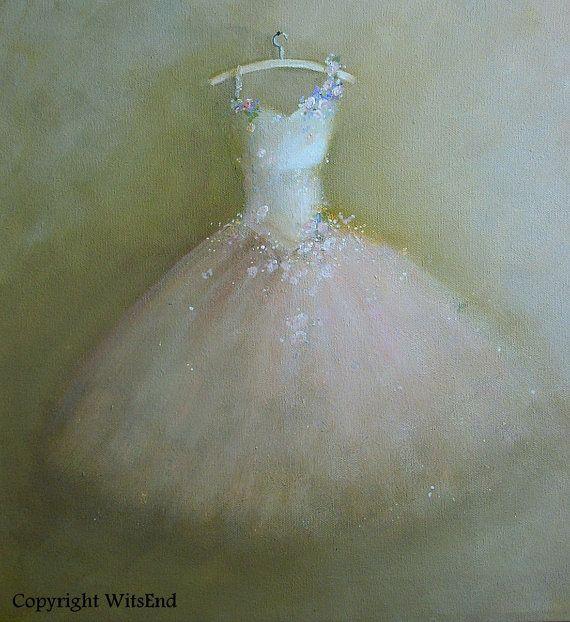 'THE BREATH OF PINK'.  PinkTutu painting original ooak ballet  fantasy by 4WitsEnd, via Etsy