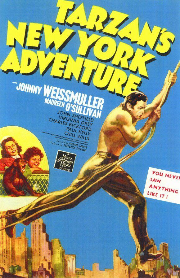 Tarzan's New York Adventure starring Johnny Weissmuller and Maureen O'Sullivan