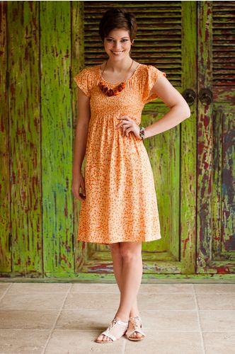 Creamsicle Batik Dress | Artisan Made in Indonesia | orange batik dress | shopgofish.com