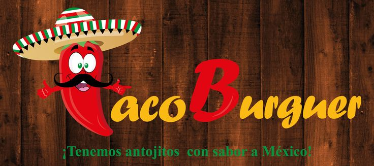 Diseño de logo para Taco Burguer. Angiee Padilla© 2016 todos los derechos reservados.