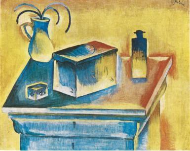 Otakar Kubín - Still-life with a box (1912–14) #painting #art #CzechArt #Czechia