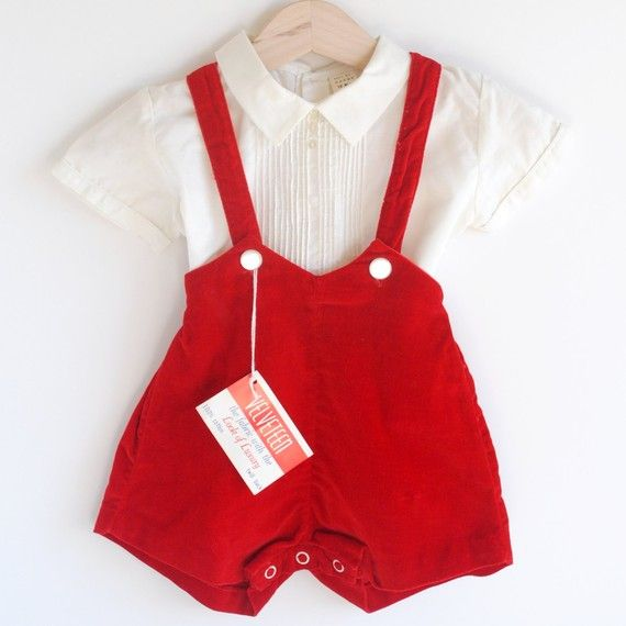 Vintage little boy's shorts outfit...so cute!