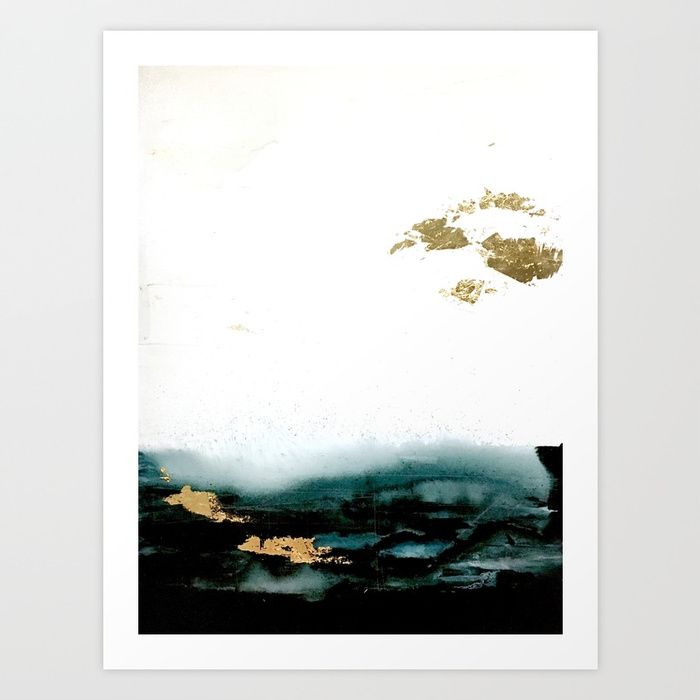 Golden Sea Art Print by sophie_lemieux | Society6