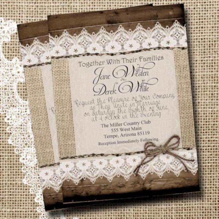 57 Stylish DIY Western Wedding Invitations Ideas