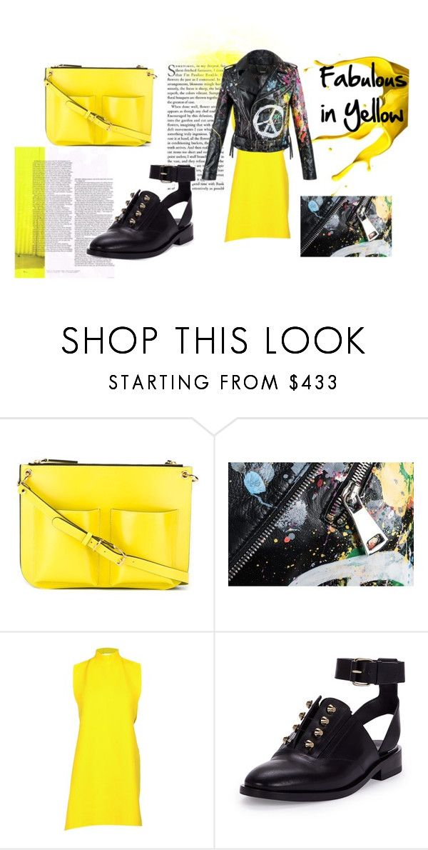 """Yellow Date"" by conceptoline on Polyvore featuring Marni, Janis, Balenciaga, yellow, splash and offbeat"