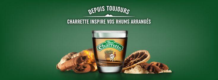 Vu sur web. Rhum Charrette est disponible sur mon site www.yumhbox.com - (litre, cubi, bib, flasque)