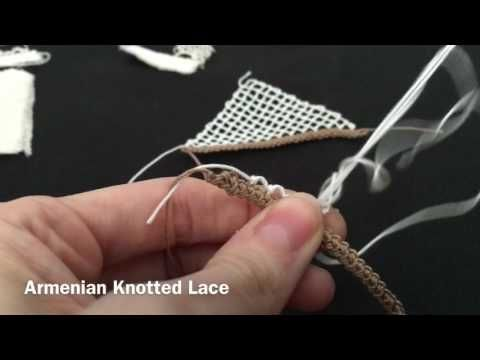 Armenian Knotted Lace - YouTube