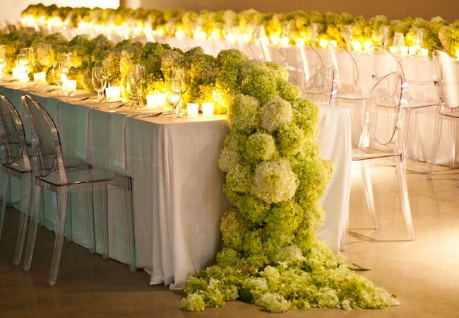 9 Flower Table Runners You'll Love! | Photo by: Photo: Caplan Miller | TheKnot.com