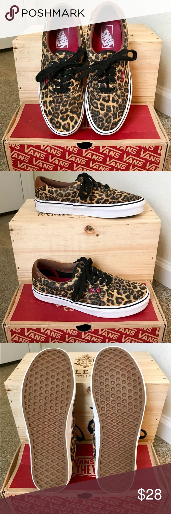 Vans Leopard Print Shoes Gently used, in great condition! Vans Shoes Sneakers