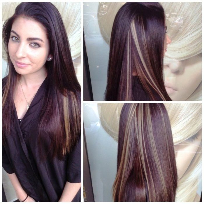 30 Color Streak Highlights Hairstyles Hairstyles Ideas Walk The