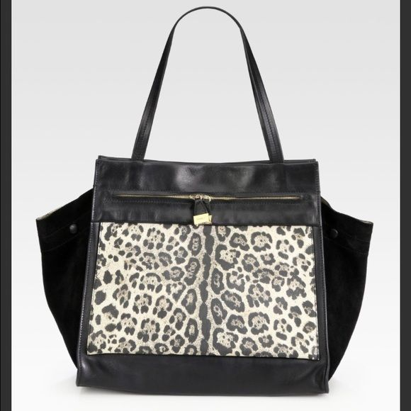 Furla Equestre Leather&Suede Medium Leopard Bag Furla exclusively for Saks 5 only! Out of stock. Rare find. Think I got the last one. Made in Italy. will only consider selling if offer is around the same price I paid for. No trades or no low offers. Will sell only if I get around my same price listed below. Nowhere sells this :) price can be equally and fair negotiated from email pls contact for more info :) medium - large bag. The perfect style bag to carry around everyday. Furla Bags